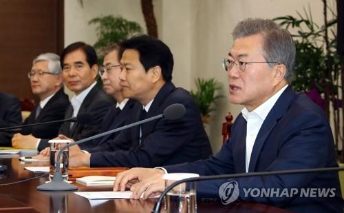 (3e LD) Moon fait allusion à un possible sommet trilatéral avec les Etats-Unis et la Corée du Nord