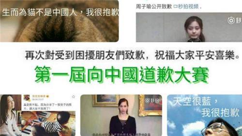 대만 네티즌들의 '반격'…중국 겨냥 '패러디 사과 대회'