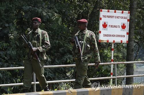 케냐 美대사관 주변서 흉기난동 괴한, 경찰 총격에 사망