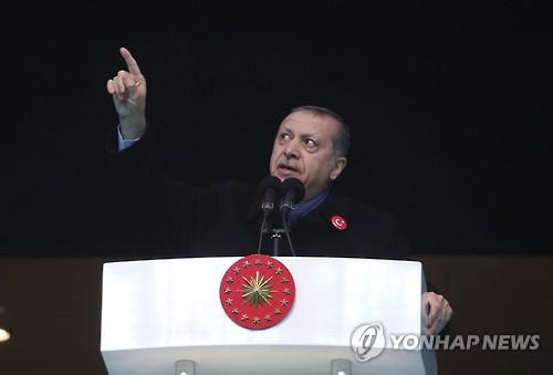 에르도안 장기집권 눈앞…터키의회 대통령제 개헌안 예비승인