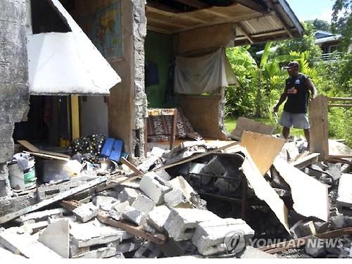 솔로몬제도 한달여만에 또 규모 6.8지진…피해 없어
