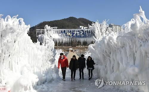 '강원 정선으로 빙고∼빙고∼'…고드름..