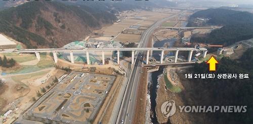 원주∼강릉 철도 노반 공사 완료…120.7km 하나로 연결