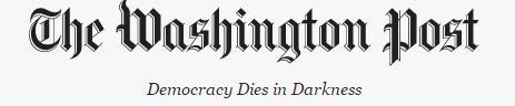 美WP의 새 모토 '민주주의가 암흑 속에서 죽다'…트럼프 겨냥