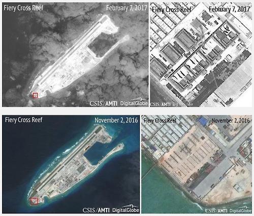 中, 남중국해 인공섬 3곳 이상에 지대공 미사일 포대(종합)
