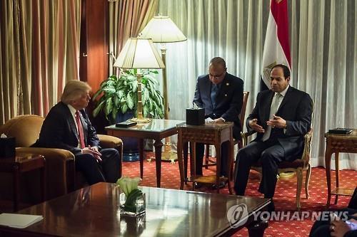 트럼프, 내달 3일 이집트 대통령 백악관 초청