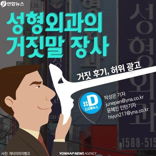 [카드뉴스] 성형외과의 거짓말 장사…거짓 후기, 허위 광고