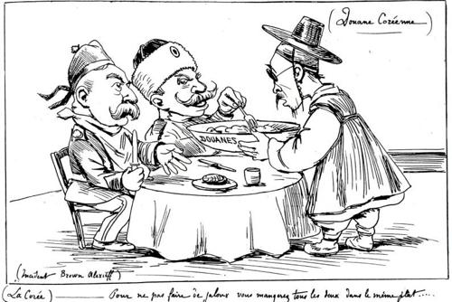 1898년 한 컷의 그림에 담긴 제국주의 세력의 민낯