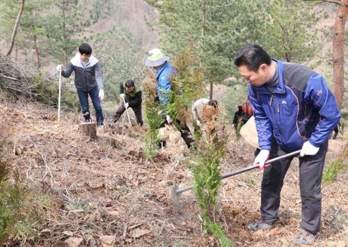 [카메라뉴스] 무주군, 산림생태문화체험관서 나무 심기