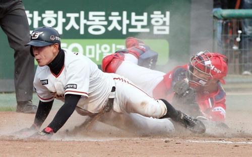 이동훈 8회 결승 홈스틸…한화, KIA 꺾고 3연승