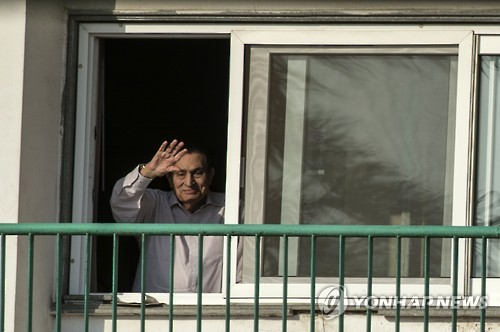 '아랍의 봄' 축출 무바라크 이집트 대통령 6년만에 석방