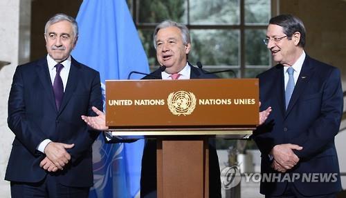 유엔 중재 키프로스 통일 협상 내달 2일 재개