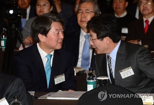 유승민 후보 선출에 비문연대는…安 '마이웨이'로 탄력 미지수