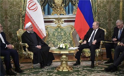 """러-이란 모스크바서 정상회담…푸틴 """"이란은 믿을 수 있는 이웃(종합)"""