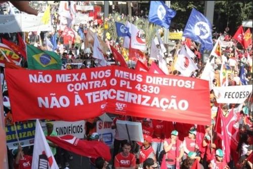 브라질 노동계 4월말 총파업…연금개혁·노동법 개정 등에 반발