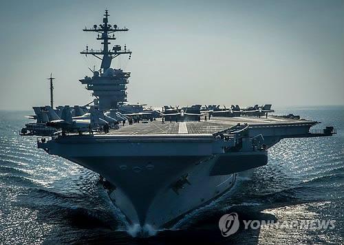 한국행 美 칼빈슨호서 전투기 사고…조종사 비상탈출