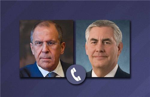 """미국·러시아 외무 전화회담…""""시리아·양자 문제 등 논의"""""""