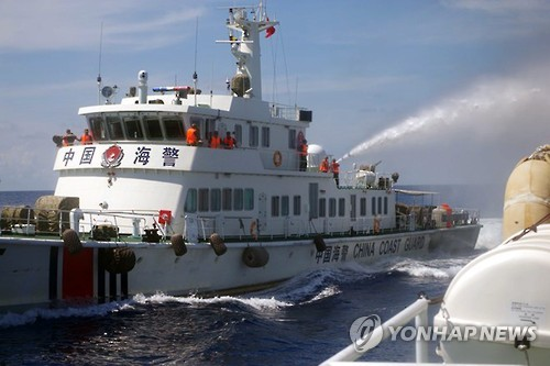 '남중국해 장악?'…中해경선, 말레이 분쟁지역 순찰(종합)