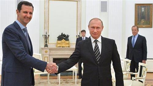 """푸틴 """"시리아 국민이 아사드 운명 결정해야…제3국 개입안돼"""""""