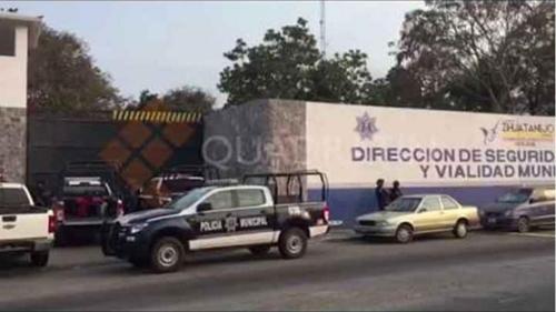 '범죄조직과 결탁' 멕시코 태평양 관광도시 경찰 집단 무장해제
