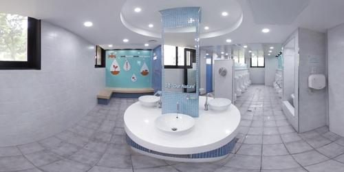 [VR현장] 확 바뀐 학교 화장실 구경하세요