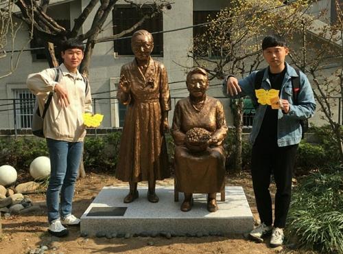 한국 대학생들 '위안부 문제 알리기' 美 자전거횡단