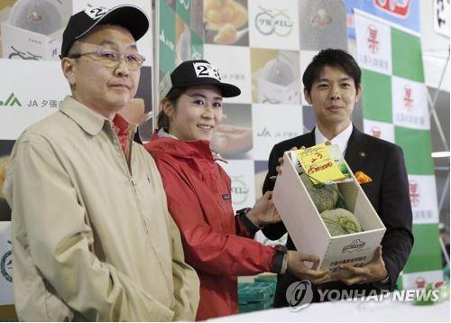 日서 멜론 1개가 750만원에 '낙찰'…초등학교 급식용으로 선물