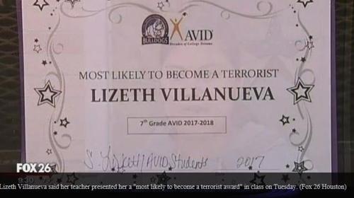 '가장 촉망받는 테러리스트상' 수여한 美텍사스 교사 징계