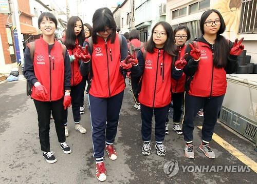전국 학생 봉사활동 시간 1위 '충북'