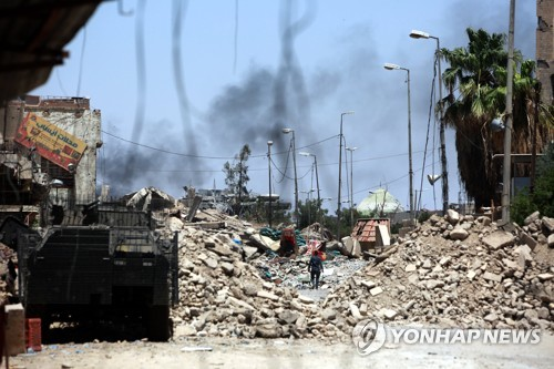 이라크군, 'IS 저항' 모술 마지막 5개구역 탈환 작전 개시