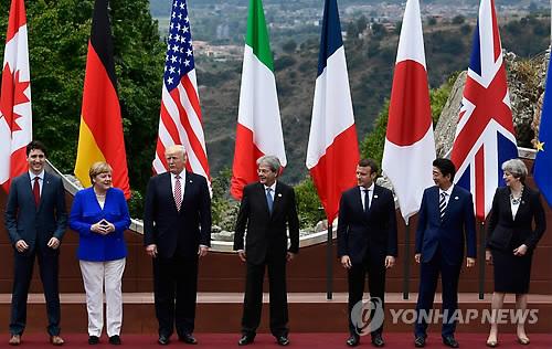 """G7, 기후변화 합의 실패…트럼프 """"내주 파리기후협정 잔류 결정"""""""