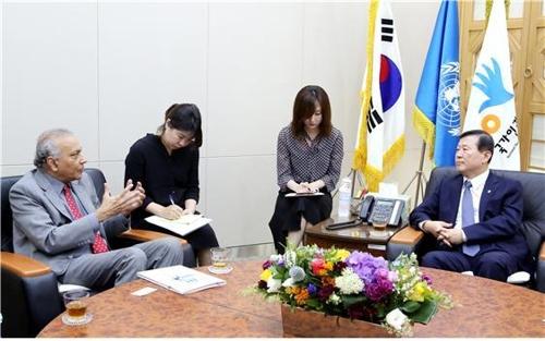 [동정] 이성호 인권위원장 유엔난민기구 한국대표부 대표 면담
