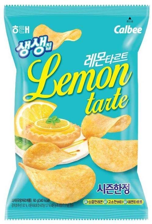 해태, 여름 한정판 감자칩 '생생칩 레몬타르트' 출시