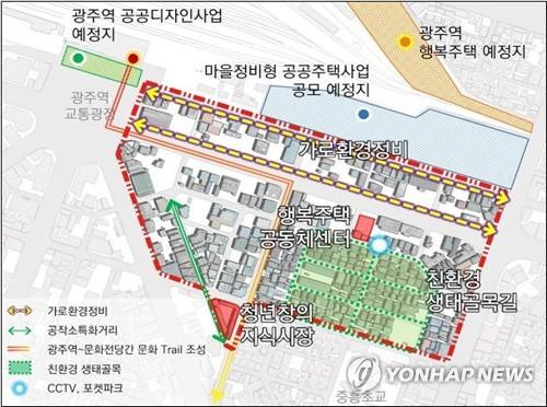 광주 북구청·토지주택공사, 광주역 부근 개발