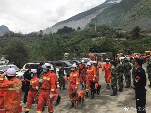 中 쓰촨성 산사태 현장 추가 피해 우려…구조대 긴급 철수