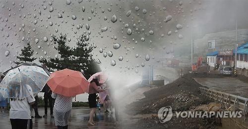 전북 시간당 최고 23㎜ 폭우…4개 시·군 호우주의보
