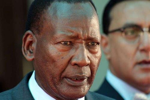 은카이세리 케냐 내무장관 급사