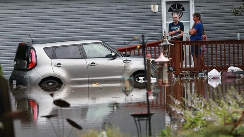 美시카고 일원 홍수…하룻밤 사이 250mm 집중호우