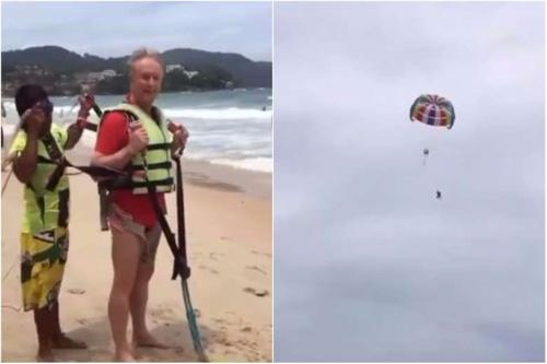 '공포의' 패러세일링…70대 호주남성 태국서 30m 추락 사망