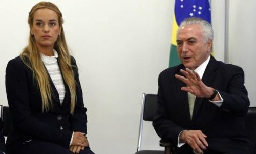 브라질 테메르, 베네수엘라 야권 지도자 로페스 공개 지지
