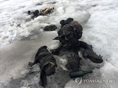 75년 전 실종됐던 스위스 부부 알프스 빙하에서 발견