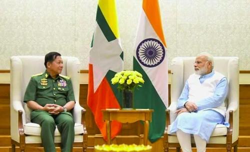 중국과 대치 인도, 미얀마와 군사협력 강화키로