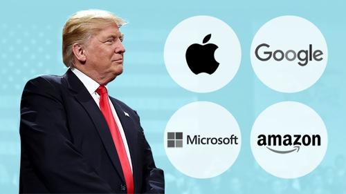 실리콘밸리 대기업, 트럼프 정부 정책 입안 시점에 거액 로비
