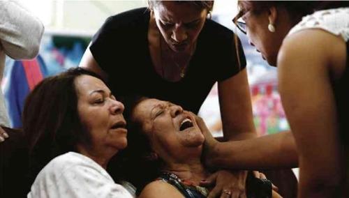 """브라질 리우 경찰 가족들 폭력 반대 시위…""""총 쏘지 말라"""""""