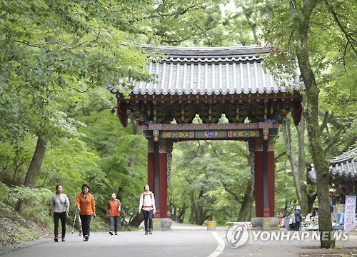 폭염 꺾였지만 비 내려 충북 유명산·유원지 한산