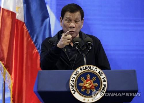 두테르테, 내주 반정부 시위 격화 우려…전국 계엄령 '엄포'