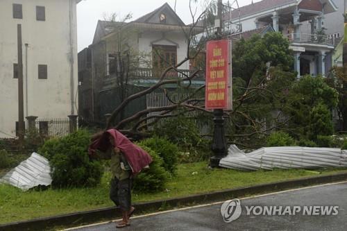 베트남에 태풍 '독수리' 강타…최소 5명 사망·130만명 정전피해