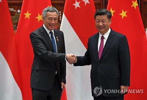 내년 아세안 의장 맡는 싱가포르 총리, 중국의 환대 받는다