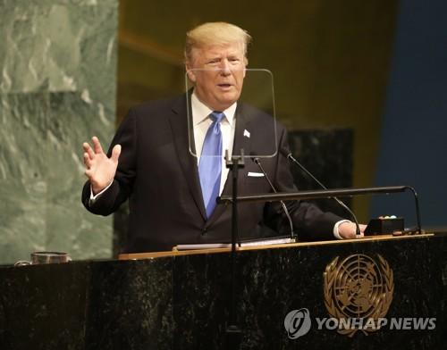 완전파괴·자살임무·로켓맨…트럼프, 유엔데뷔전서 北 집중포화(종합)