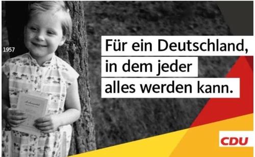 메르켈의 총선 마지막 무기는 '3살난 메르켈 사진'